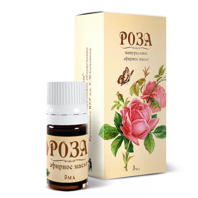 Эфирное масло Розы 5 мл в бежевой коробке